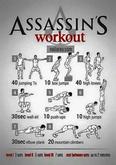 Work it out . . . assassin style
