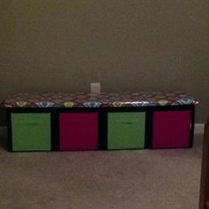 Milk crate bench for my classroom!!