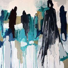 """Har bästa galleristen @nordicartwall ✨ nu är """"The Queen"""" såld. Kika in på deras eller min hemsida om du är nyfiken på min konst! #patternplanart#anettecarlssonmoberg #nordicart #art#akryl#gallerywall#acrylicpainting #silhouette"""