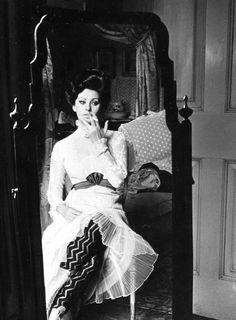 Sophia Loren on the set of Lady L (1965)