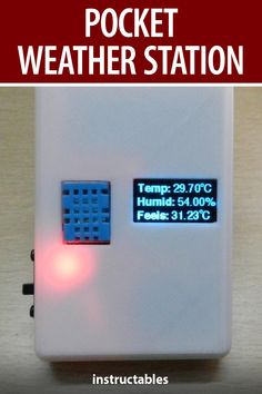 Build a pocket sized weather station with an Arduino Nano board. #Instructables #electronics #technology #3Dprint #Tinkercad Useful Arduino Projects, Arduino Class, Learn Robotics, Arduino Board, Temperature And Humidity, Mechanical Design, 3d Printing, Engineering, Weather