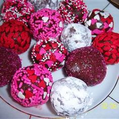 Easy Decadent Truffles Recipe Desserts with cream cheese, confectioners sugar, semi-sweet chocolate morsels, vanilla