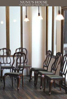 *椅子一式仕上げ* - *Nunu's HouseのミニチュアBlog*           1/12サイズのミニチュアの食べ物、雑貨などの制作blogです。