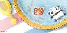 Tare Panda in a pool