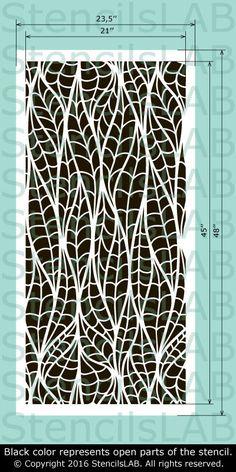 Decorative Floral Stencil For Walls - Spring Wall Stencil - Reusable Wall Stencil - Seamless Wall Stencil Large Wall Stencil, Stencil Wall Art, Wall Stencil Patterns, Large Stencils, Stencil Painting, Stencil Designs, Bar Design, Grill Design, Design Ideas