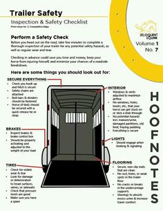 Trailer safety checklist