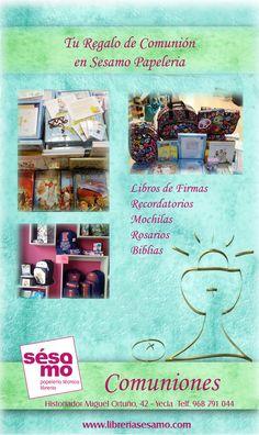 Librería Sésamo en Yecla tiene un gran surtido de regalos para comuniones ¿ no sabes qué regalar ? ven y te asesoramos !