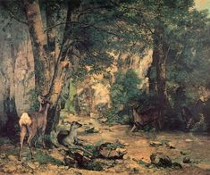 A Thicket of Deer at the Stream of Plaisir-Fontaine, Gustave Courbet, 1867