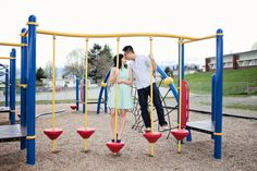 Elementary school playground engagement shoot. Photography by cwilliamsphotography.ca