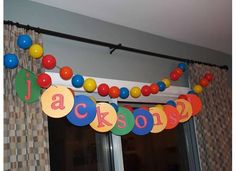 Party Recap: Happy Birthday to My Little Man! Ball Theme Birthday, Bouncy Ball Birthday, 2 Year Old Birthday Party, Ball Birthday Parties, Happy 2nd Birthday, Boy Birthday, Birthday Ideas, Birthday Garland, Ball Pit Party