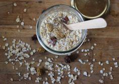 Overnight oats coco framboises séchées (porridge sans cuisson)