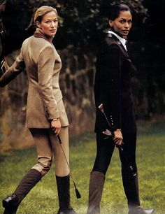 Love the subtle equestrian hints in these two contrasting looks. Preppy Style, My Style, Equestrian Chic, Equestrian Fashion, English Country Style, Wale, Country Fashion, Jodhpur, Classic Outfits