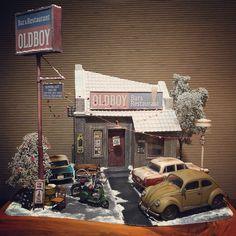 """319 likerklikk, 53 kommentarer – m.takeda (@minminapooh) på Instagram: """"1/35 diorama oldboy bar&restaurant 完成。 北アメリカ(Montana)にあるbar&restaurant…"""""""