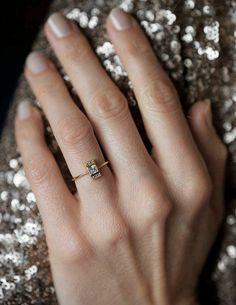 la plus belle et simple bague de fiançailles avec diamants