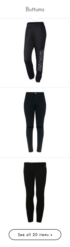 """""""Buttums"""" by southernstruttin ❤ liked on Polyvore featuring activewear, activewear pants, bottoms, nike sweatpants, nike activewear pants, nike activewear, nike, nike sportswear, jeans and pants"""
