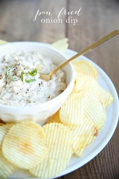 The best onion dip recipe - easy & incredible pan fried onion dip