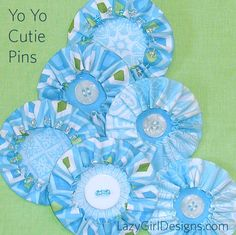 Blues, beads and buttons, perfect for Hanukkah Yo Yo Cutie Pins!