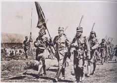 Παρέλαση της Ελληνικής σημαίας στην Μικρά Ασία απελευθερωτική εκστρατεία 1919-1922