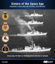 Royal Canadian Navy, Royal Navy, Canadian History, Us History, Navy Day, Navy Marine, Iroquois, Navy Ships, Military Equipment