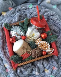 Diy Gifts For Friends Easy Secret Santa New Ideas Christmas Hamper, Christmas Tree Toy, Colorful Christmas Tree, Christmas Gift Box, Simple Christmas, Xmas Gifts, Christmas Crafts, Cheap Christmas, Santa Christmas