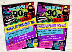 House Party Ultimate 90s Party House Party Invitation Digital File
