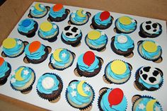 Baby Shower Cupcakes for a Goodnight Moon themed shower by Simply Sweets, via Flickr