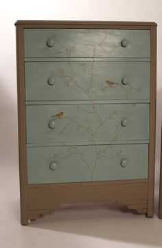 Birds on Branches Chest of Drawers in Coco & by TheShabbyChicAttic