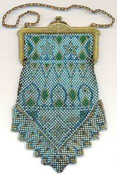 pretty mesh purse, not sure if it's Mandalian or Whiting & Davis