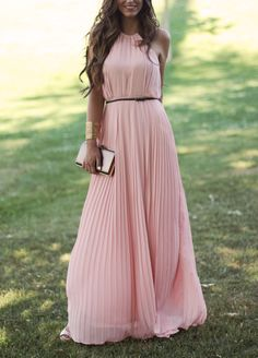 Gorgeous coral maxi dress. Summer women fashion outfit clothing style apparel @roressclothes closet ideas