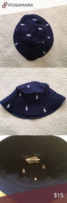 Ralph Lauren, baby boy bucket hat Lightly used, can be used in a baby 9 months and up, that's my lil prince rocking the hat in the pic Ralph Lauren Accessories Hats