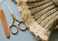 How To Crochet This Edge on Wool Socks
