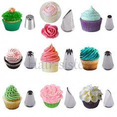 Icing Piping Nozzles Tips Cupcake Cake Decorating Pastry Swirls Cream DIY Tools | eBay #cakedecoratingtips