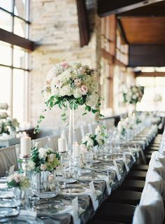 Photography : Brett Heidebrecht Photography | Floral Design : Aspen Branch | Reception Venue : The 10th At Vail | Coordination : Colorado Wedding Company Read More on SMP: http://www.stylemepretty.com/2015/12/07/elegant-vail-mountain-wedding/
