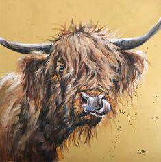 LOUISE BROWN COUNTRY FARM COW BLACK WHITE LARGE CANVAS WOOD PICTURE 40 X 40CM