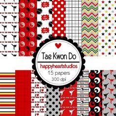 Digital Scrapbooking TaeKwonDoINSTANT DOWNLOAD by azredhead, $1.50