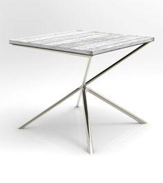 Mesa com tampo em madeira, pés em inox  Encomendas: office@ziyaconcept.com www.ziyaconcept.com