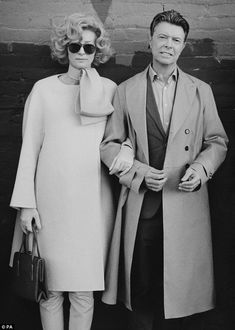 A picture of elegance: David Bowie and Tilda Swinton on the set of the singer's new short film directed by Floria Sigismondi and shot by Jeff Cronenweth