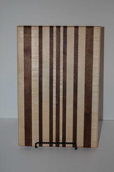 Black walnut and maple cutting board