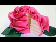 Ginormous Sculpted Rose Cake - CAKE STYLE - YouTube