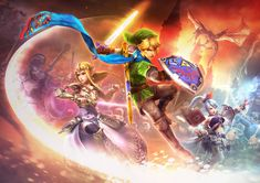 Key Artwork | Hyrule Warriors | The Legend of Zelda | Link, Princess Zelda, and Lana