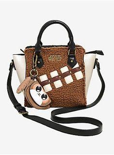 ff048176dd22 Two of your favorite creatures from Star Wars come together on this handbag!  The champagne