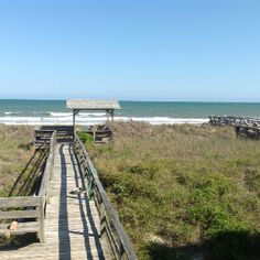 Our rental beach house's view this past May.