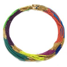 pretty colored chain.  Wonder if I could diy?