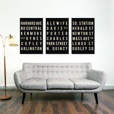 San Francisco Print Subway Sign Typography by GoingUnderground, Bastille, San Francisco Subway, Tenerife, Quebec, Chicago Art, U Bahn, Louvre, Subway Art, Subway Signs