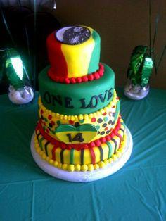 Rasta Bob Marley cake by Lydia's Edible Art facebook.com/lydiasedibleart