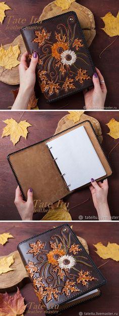 Stamped Leather Cover   Кожаная обложка для ежедневника, тиснение — работа дня на Ярмарке Мастеров