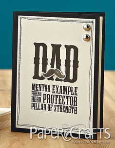 Nice card for dad from child... good idea for birthday card -- by Marlene Lo