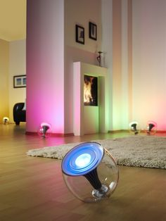 Philips Living Color. Creating different moods and atmospheres with colour in light, depending on how you feel!