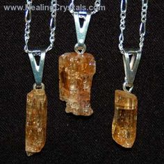 Crystal Pendants - Imperial Topaz Rod Pendant- Imperial Topaz - Healing Crystals