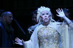 "Sondra Radvanovsky as Norma performs in a dress rehearsal for Bellini's ""Norma"" SFO Rehearsal Dress, Opera Singers, Bellini, Costumes, Stars, Dress Up Clothes, Costume, Star, Swimwear"
